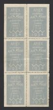 New listing Gb 1934 International Air Post Exhibitiion label complete sheet of 6