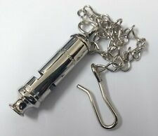 More details for genuine british made whistle & chain royal military rmp - new