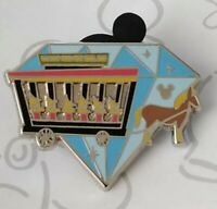 Horse Drawn Streetcar Diamond Attractions 2015 Hidden Mickey DLR Disney Pin