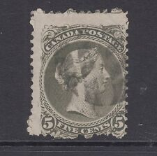 Canada Sc 26 used 1875 5c olive green Large Queen