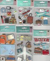 U CHOOSE  Assorted Jolee's PLANE TRIP travel 3D Stickers luggage airplane camera