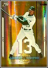LEAF CERTIFIED 2004 CARL CRAWFORD MLB TAMPA BAY RAYS MIRROR GOLD GAME JERSEY /25
