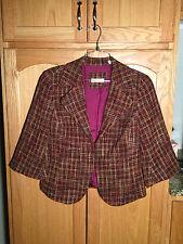 COLDWATER CREEK Women's Jacket Blazer SIZE 10  Pink, purple, browns