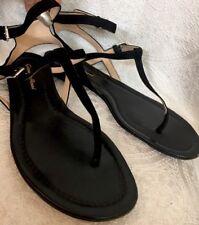 Gianvito Rossi Sandal black suede double buckle strap size 39 1/2