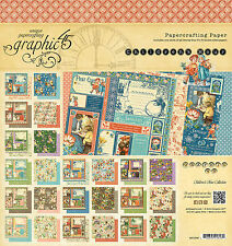 Graphic45 CHILDREN'S HOUR 8x8 PAPER PAD scrapbooking VINTAGE CHILDHOOD IMAGES
