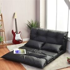 PU Leather Home Theater Seats Loveseat Sofa Seating Foldable Gaming Couch