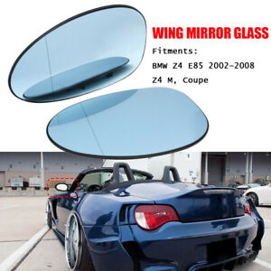 Left & Right Wing Heated Blue Mirror Glass For BMW Z4 E85 2002–2008 Z4 M Coupe