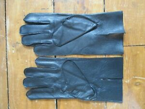 BLACK LEATHER GLOVES size EXTRA SMALL mint in packet