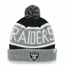 f6d5edbfb New ListingNFL Oakland Raiders Embroidered Jacquard Cuff Knit Hat with Pom  by  47
