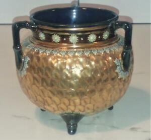 Antique Royal Doulton Circleware Cauldren Tyg Decorated by Gladys Jones 1905