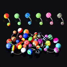 Wholesale Lot 30pcs Ball Belly Button Ring Navel Rings Bar Body Piercing Jewelry