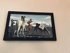 VINTAGE Original Oil 11 x 20 Rare beautiful PERU mountain view