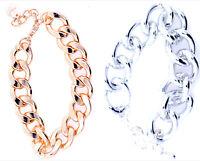 Bracelet chaîne solide / tube, ou bracelet loup, choix multiples