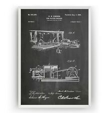 Cow Milking Machine 1900 Patent Print - Poster Wall Art Gift Farming - Unframed
