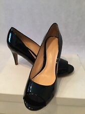 Gorgeous Women's Nib Theory Black Patent Margaret Peep Toe Heels-Sz. 8.5