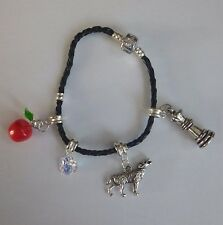 Twilight Saga Book & Film Inspired Silver Plated Charm Bracelet - 4 Charms