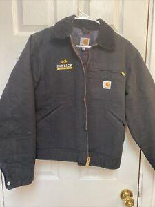 CARHARTT 125 Jacket Fleece Lined Small  Black EUC