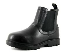 NEXT Infant Girls UK 10 EU 28 Black Leather Cosy Warm Fleece Lined Ankle Boots
