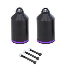 STUNT SCOOTER PEGS BLACK PURPLE RAINBOW OIL SLICK 100mm 110mm WHEEL DECK PEGS