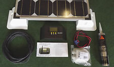 100 WATT MOTORHOME SOLAR PANEL & FULL FITTING KIT & LCD display Regulator 100w