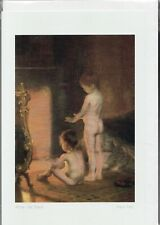 """AFTER THE BATH -  6"""" x 9"""" - art card by Paul Peel - Free Shipping 9690"""