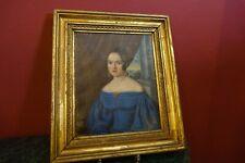 Biedermeier Portrait Junge Dame, Öl auf Leinwand , um 1840