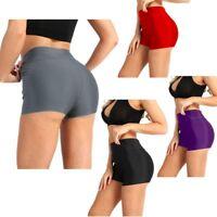 Women Plain Gym Swim Shorts Bikini Swimwear Boy Shorts Underwear Booty Panties