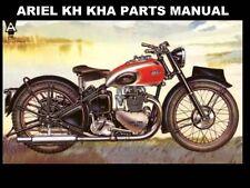 ARIEL KH KHA MOTORCYCLE PARTS MANUALs 60pg for 500cc Service and Repair w Ad Art