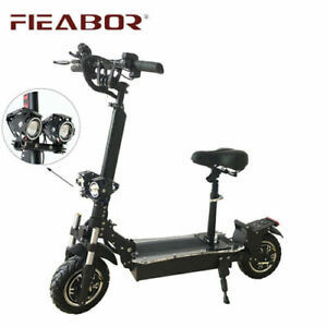 Fieabor 2400w/52v Two Wheel 10.5in Folding Electric Kick Scooter NEW