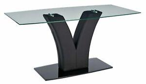 Home Oriana Glass Coffee Table - Black