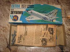 VINTAGE BOX ART 1/72 IMC RARE BATTLE DAMAGED SKYHAWK A-4E DATED 1965 KIT 485-100