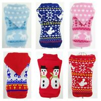 Cute Knitted Dog Jumper Winter Pet Clothes Sweater Small To Medium Dogs