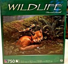 """Sure-Lox 750 Piece Wildlife Jigsaw Puzzle """"Forest Floor"""" 23.5 x 15 Pre-owned"""