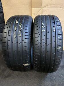 245 45 R 18 96Y Continental ContisportContact 3 * SSR Rsc Run Flat Rft 2x Tyres