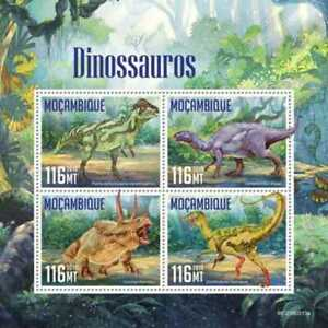 Mozambique - 2019 Dinosaurs on Stamps - 4 Stamp Sheet - MOZ190513a