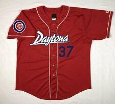 Vtg Wilson Daytona Cubs Mens XL Baseball Jersey Milb Minor League Red Mesh