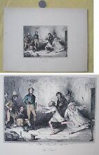 Vintage PRINT,John LEECH,The Duel, 19th Century