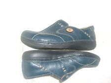 Un Structured blue leather Clarks 7W