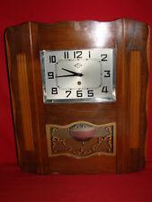 ANCIENNE HORLOGE MURAL F B L MOUVEMENT 15 JOURS / PENDULE OLD CLOCK