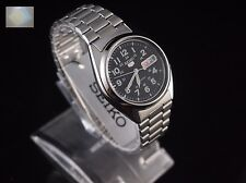 SEIKO 5 SNX809 Stainless Steel Band Automatic Men's Black Watch SNX809K1 + Gift