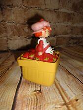 Vintage 1981 Strawberry Shortcake Picnic Figure Trinket Music Box Mirror No KEY