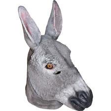 Adult Full Donkey Mask Animal Halloween Costumes