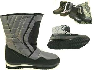 MENS SNOW BOOTS WARM THERMAL FLEECY LINED COMFORT WELLINGTONS FUR SKI BOOTS