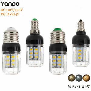 E27 E26 E14 27LEDs 9W LED Corn Bulbs Light 5730 SMD Bright Lamps 220V DC 12V 24V