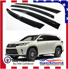Fit Toyota Highlander 14 - 17 3D JDM MUGEN STYLE SMOKED WINDOW VISOR VENT SHADE