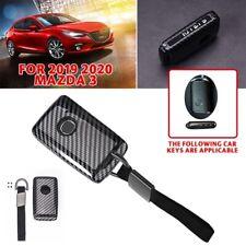 For 2019-20 Mazda 3 Sedan Hatchback Zinc alloy smart key case cover Carbon fiber