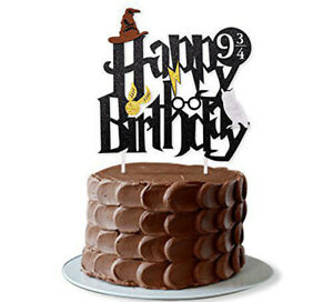 Harry Potter Cake Topper Bunting Happy Birthday Party Decoration Anniversary UK