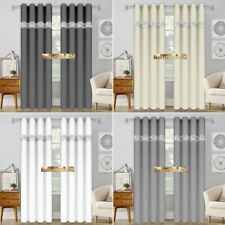 ** Zircons * Modern Eyelet Voile Net Curtains  -  Ready Made  **  Sale UK SELLER