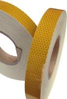 Hi Viz High Intensity Reflective Tape Amber 25mm x 5m Weatherproof Strong