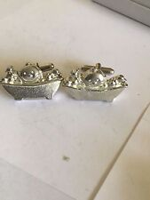 Cufflinks Made From English Modern Pewter Baby Bath Time Tg90 Pair Of